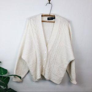 Vintage • Oversized Chunky Knit Cardigan